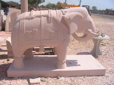 Carved Elephants